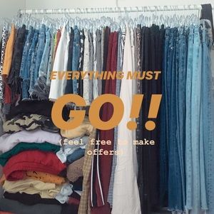 CLOSET SALE, LOWERED ALL PRICES